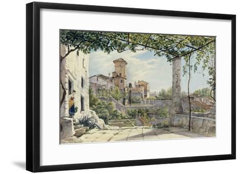 Villa Malta, Rome, about 1840-Franz Ludwig Catel-Framed Art Print