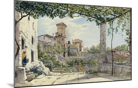 Villa Malta, Rome, about 1840-Franz Ludwig Catel-Mounted Giclee Print