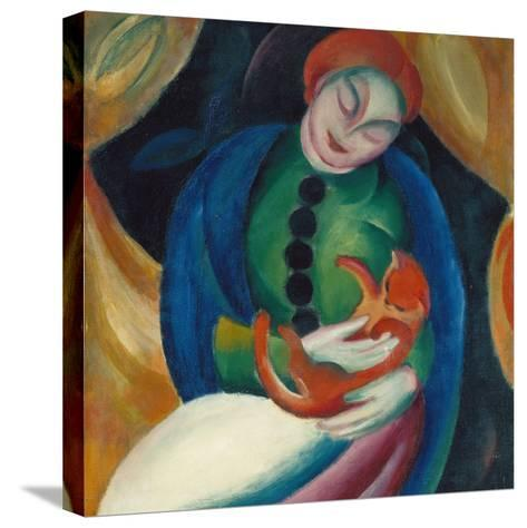 Girl with a Cat Ii., 1912-Franz Marc-Stretched Canvas Print