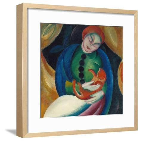 Girl with a Cat Ii., 1912-Franz Marc-Framed Art Print