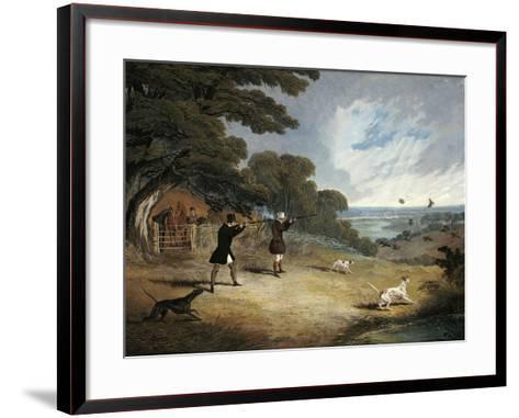 Partridge Shooting at Six Mile Bottom, 1833-John Frederick Herring I-Framed Art Print