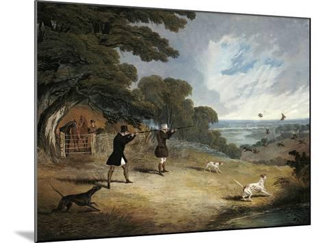 Partridge Shooting at Six Mile Bottom, 1833-John Frederick Herring I-Mounted Giclee Print