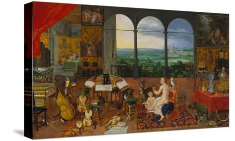 Allegory of Hearing. (Realised with Peter Paul Rubens), 1617-Jan Brueghel the Elder-Stretched Canvas Print
