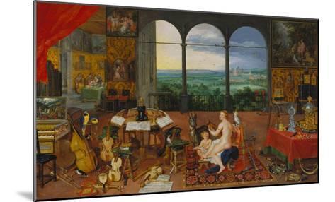 Allegory of Hearing. (Realised with Peter Paul Rubens), 1617-Jan Brueghel the Elder-Mounted Giclee Print