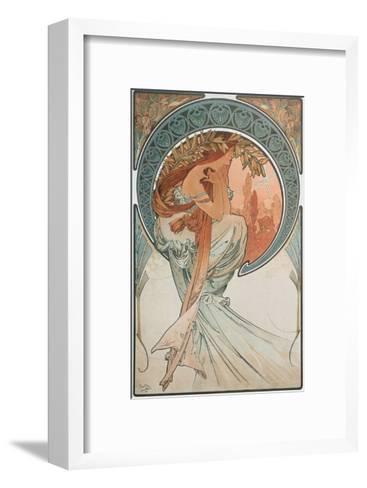 The Arts: Poetry, 1898-Alphonse Mucha-Framed Art Print