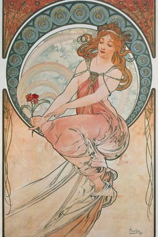 The Arts: Painting, 1898-Alphonse Mucha-Stretched Canvas Print