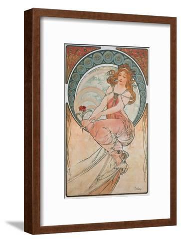 The Arts: Painting, 1898-Alphonse Mucha-Framed Art Print