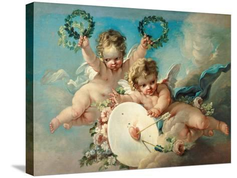 Cupid's Target-Francois Boucher-Stretched Canvas Print