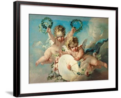 Cupid's Target-Francois Boucher-Framed Art Print