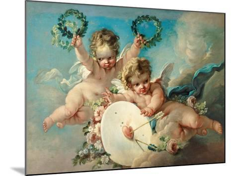Cupid's Target-Francois Boucher-Mounted Giclee Print