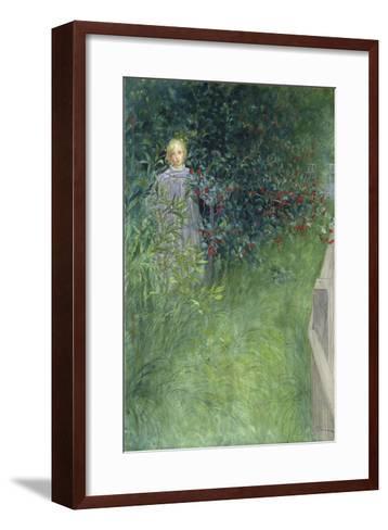 In the Rose Hip Hedge-Carl Larsson-Framed Art Print