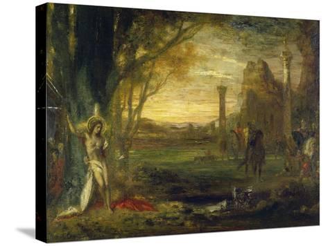 The Martyrdom of Saint Sebastian-Gustave Moreau-Stretched Canvas Print