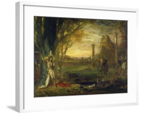 The Martyrdom of Saint Sebastian-Gustave Moreau-Framed Art Print