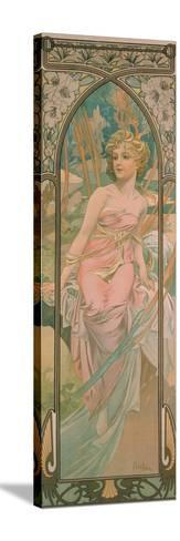 The Times of the Day: Morning Awakening, 1899-Alphonse Mucha-Stretched Canvas Print
