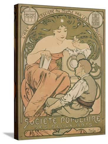 Poster Advertising the 'société Populaire Des Beaux-Arts', 1897-Alphonse Mucha-Stretched Canvas Print