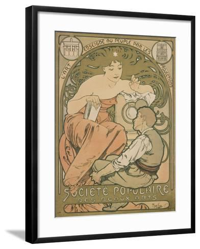 Poster Advertising the 'société Populaire Des Beaux-Arts', 1897-Alphonse Mucha-Framed Art Print