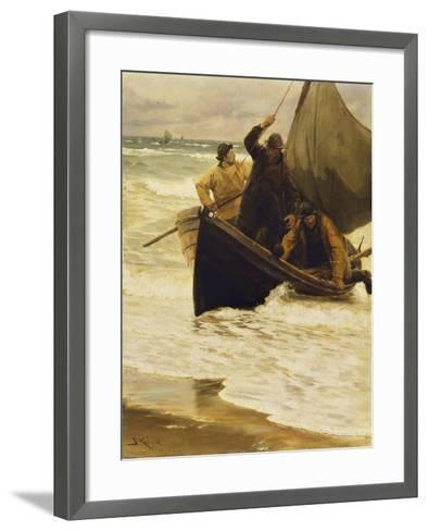 Heimkehr Der Fischer. (Skagen 1885)-Peder Severin Kr?yer-Framed Art Print