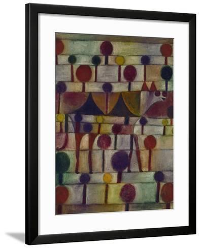 Kamel in Rhythmischer Baumlandschaft, 1920-Paul Klee-Framed Art Print