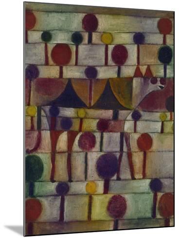 Kamel in Rhythmischer Baumlandschaft, 1920-Paul Klee-Mounted Giclee Print