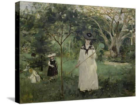 The Butterfly Hunt (The Artist's Sister with Her Children), 1874-Berthe Morisot-Stretched Canvas Print