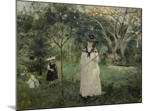 The Butterfly Hunt (The Artist's Sister with Her Children), 1874-Berthe Morisot-Mounted Giclee Print