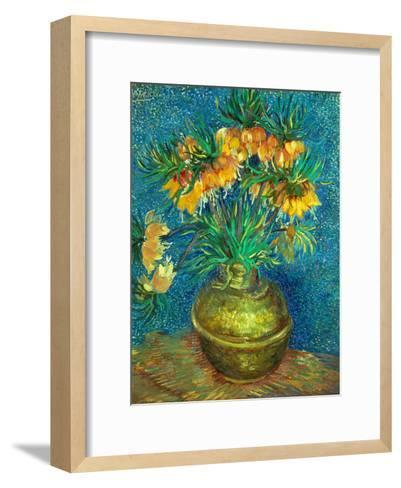 Crown Imperial Fritillaries in a Copper Vase, 1886-Vincent van Gogh-Framed Art Print