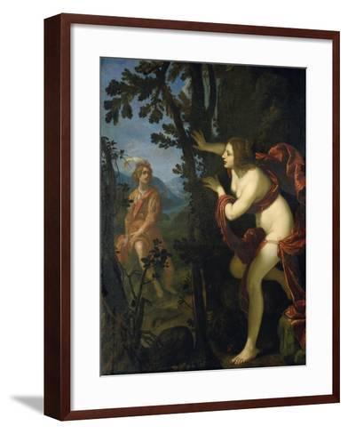 Narcissus and Echo-Giovanni Biliverti-Framed Art Print