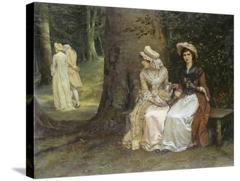Unrequited Love - a Scene from Much Ado About Nothing, 1880-William Oliver-Stretched Canvas Print