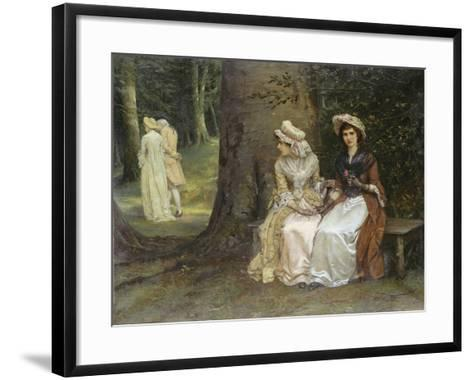 Unrequited Love - a Scene from Much Ado About Nothing, 1880-William Oliver-Framed Art Print