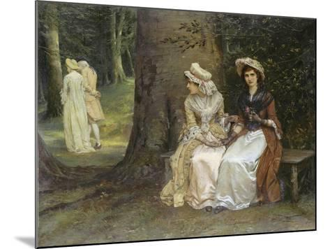 Unrequited Love - a Scene from Much Ado About Nothing, 1880-William Oliver-Mounted Giclee Print