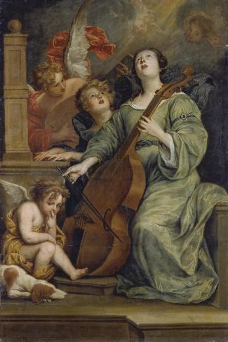 Saint Cecilia-Thomas Willeboirts-Stretched Canvas Print