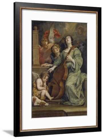 Saint Cecilia-Thomas Willeboirts-Framed Art Print