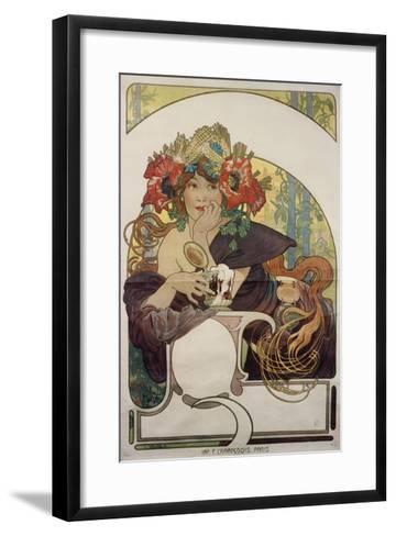Poster Advertising 'Bieres De La Meuse', about 1897-Alphonse Mucha-Framed Art Print