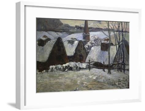 Breton Village in Winter, 1894-Paul Gauguin-Framed Art Print