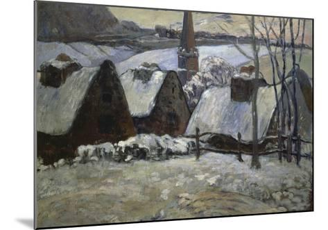 Breton Village in Winter, 1894-Paul Gauguin-Mounted Giclee Print