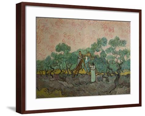 The Olive Pickers, 1889-Vincent van Gogh-Framed Art Print