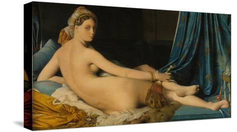 La Grande Odalisque, 1814-Jean-Auguste-Dominique Ingres-Stretched Canvas Print