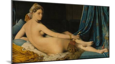 La Grande Odalisque, 1814-Jean-Auguste-Dominique Ingres-Mounted Giclee Print
