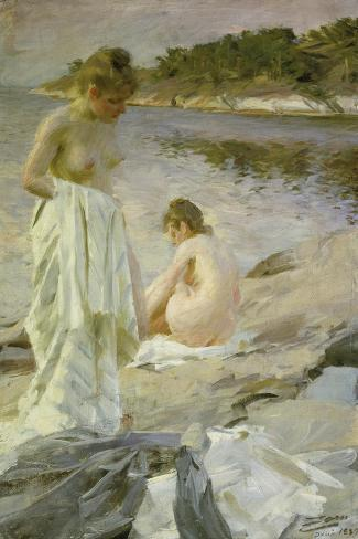 The Bathers, 1889-Anders Leonard Zorn-Stretched Canvas Print