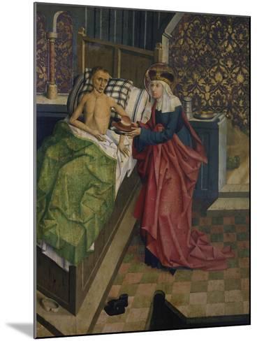 Altar des Nikolaus Puchner. die Selige Agnes Pflegt Einen Kranken- Master of Kreuzberg-Mounted Giclee Print