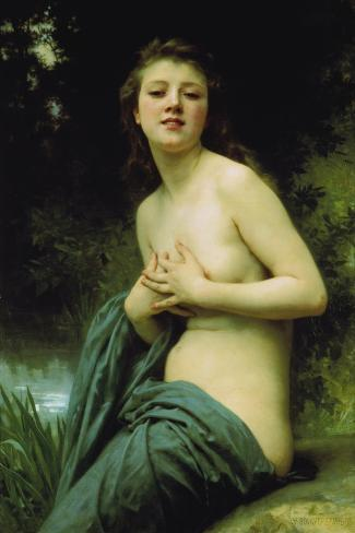 Heavenly Spring, 1895-William Adolphe Bouguereau-Stretched Canvas Print