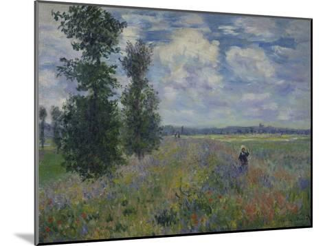 Poppies (Near Argenteuil) 1873-Claude Monet-Mounted Giclee Print
