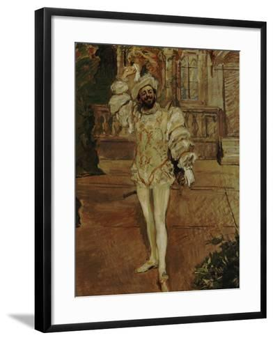 The Singer D'Andrade as Don Juan (Or: the Champagne Song), 1902-Max Slevogt-Framed Art Print