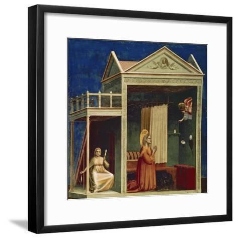 Annunciation to St. Ann-Giotto di Bondone-Framed Art Print
