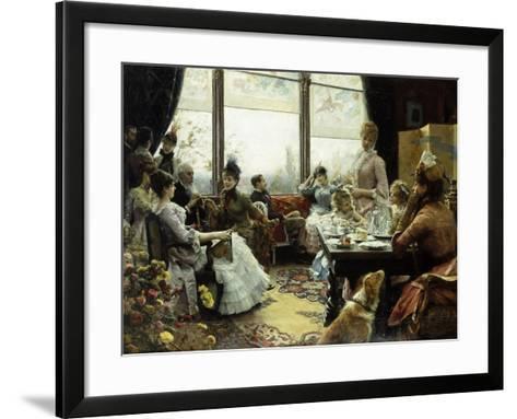 Five O'Clock Tea-Julius Leblanc Stewart-Framed Art Print