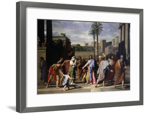 Christ and the Woman Taken in Adultery, 1682-Nicholas Colombel-Framed Art Print