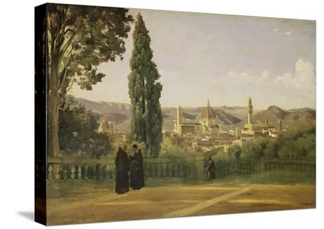 View of Florence from the Boboli Gardens, about 1835/40-Jean-Baptiste-Camille Corot-Stretched Canvas Print