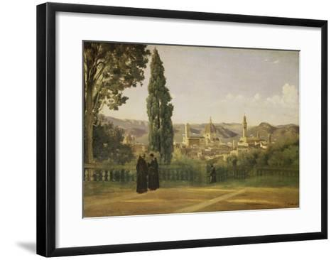 View of Florence from the Boboli Gardens, about 1835/40-Jean-Baptiste-Camille Corot-Framed Art Print