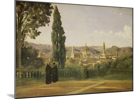 View of Florence from the Boboli Gardens, about 1835/40-Jean-Baptiste-Camille Corot-Mounted Giclee Print