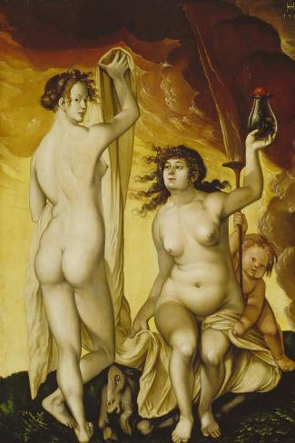Two Witches, 1523-Hans Baldung Grien-Stretched Canvas Print